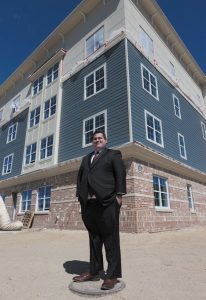 Matthew McDonough: CEO of Babylon IDA at Copiague Commons affordable housing complex. || Photo by Judy Walker
